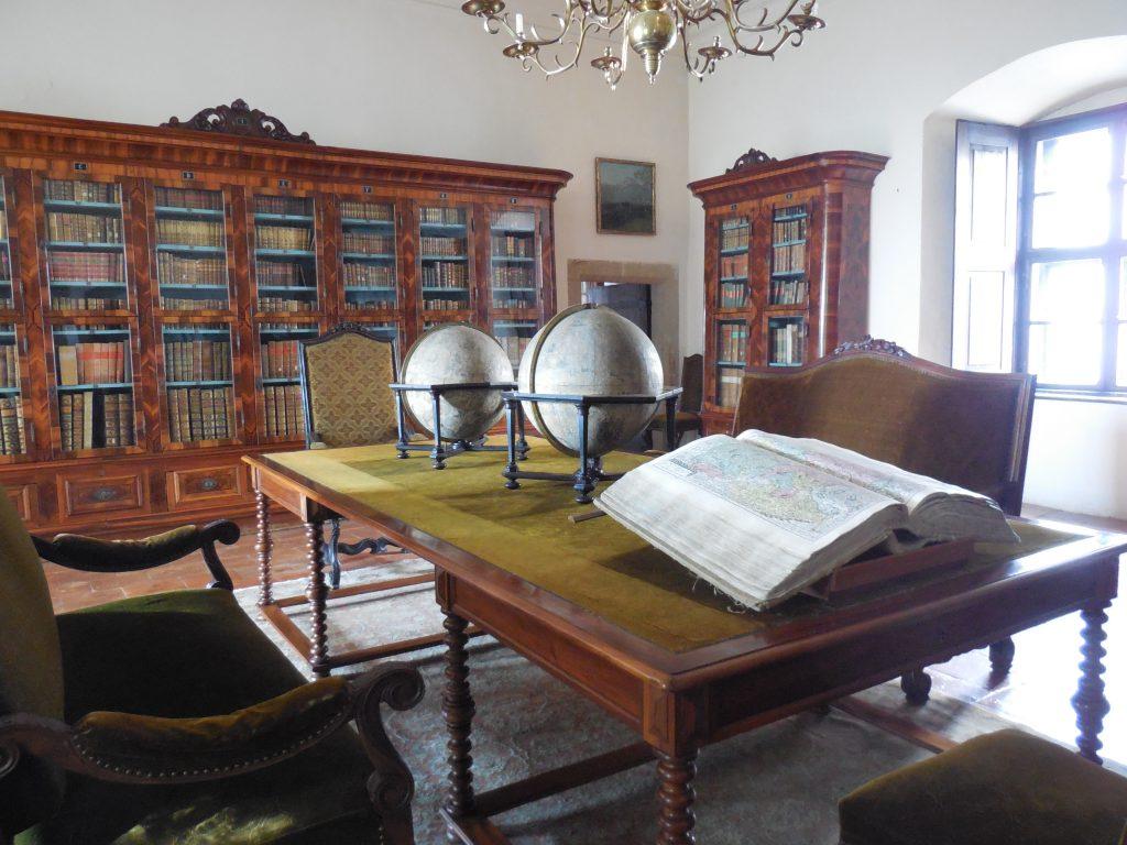 hrad Buchlov knižnica